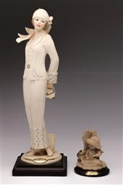 Sale 9078 - Lot 106 - A Florence Figure Of a flapper and A Small Example H: 32cm