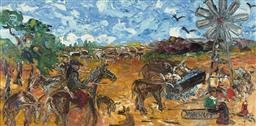 Sale 9084 - Lot 511 - Evan Mackley (1940 - 2019) - Well Earned Rest 37 x 72 cm (frame: 64 x 102 x 3 cm)