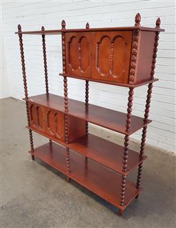 Sale 9154 - Lot 1020 - Vintage open wall unit (h:146 x w:130 x d:30cm)