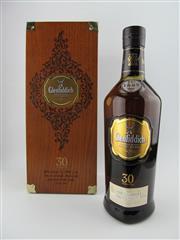 Sale 8411 - Lot 694 - 1x Glenfiddich 30YO Single Malt Scotch Whisky - bottle no. 6409, cask selection no. 00024, 43% ABV, 700ml in timber presentation box
