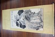 Sale 8490 - Lot 226 - Li Kuchan Signature Watercolour Scroll