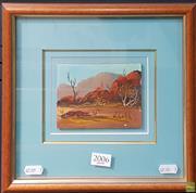 Sale 8595 - Lot 2006 - Henk Guth Central Australian Landscape oil on board, 9 x 12cm, signed lower left