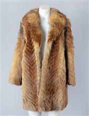 Sale 8828F - Lot 20 - An Australian Red Fox Chevron-Cut Jacket By Hammerman Furs, Size Large