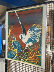 Sale 8924 - Lot 2091 - Michael Schlitz - My Mother Kite screenprint ed. 1/15, 80 x 65.5cm (Frame), signed