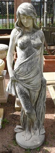 Sale 8950G - Lot 38 - A good composite stone statue with aged patina 1.5m Height