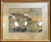 Sale 8953 - Lot 2068 - Neipens - Boats in Harbour Print