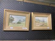 Sale 8978 - Lot 2036 - Kerrie Miller (2 works) Country Roads, oil on board, 22 x 27 cm (each), signed lower right