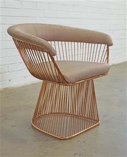 Sale 9151 - Lot 1010 - Warren Platner style armchair (h:71 x w:68cm)