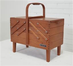Sale 9154 - Lot 1029 - Singer sewing box (h52 x w54 x d30cm)