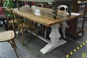 Sale 8341 - Lot 1024 - Kensington Table over White Painted Base (200cm)