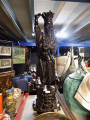 Sale 8347 - Lot 1003 - Carved Wood Japanese Figure