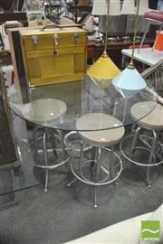 Sale 8406 - Lot 1093 - Modern Glass Top Table over Metal Base