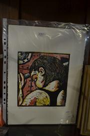 Sale 8453 - Lot 2083 - Peter M King (2 works) - Portraits 38 x 28cm (sheet size)