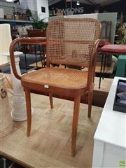 Sale 8601 - Lot 1317 - Bentwood Chair with Rattan Back & Seat