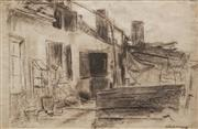 Sale 8631 - Lot 2073 - Artist Unknown (C20th) - Untitled (Domestic Scene - Sketch) 32.5 x 49cm