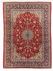Sale 8740C - Lot 55 - A Persian Kashan From Isfahan Region 100% Wool Pile On Cotton Foundation, 360 x 260cm
