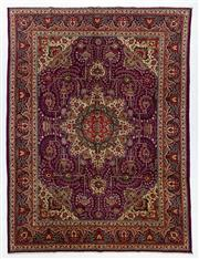 Sale 8760C - Lot 13 - A Persian Tabriz Wool And Silk Pile, 396 x 296cm