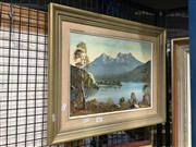 Sale 8754 - Lot 2091 - A.W. Singer - Mountian Lake, Oil, SLR