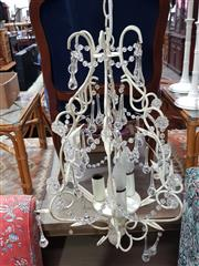 Sale 8863 - Lot 1072 - Metal and Glass Chandelier