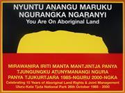 Sale 8992 - Lot 595 - Chips Mackinolty(1954 - ) - You Are On Aboriginal Land, Celebrating 15 Years Of Aboriginal Land Rights, 2000 sheetsize: 50 x 75 cm (...