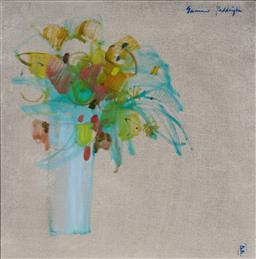 Sale 9125 - Lot 504 - Dennis Baker (1951 - ) Summer Paddington oil on canvas 60 x 59.5 cm (frame: 85 x 84 x 4 cm) signed lower right