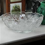 Sale 8379 - Lot 63 - Large Cut Crystal Centrepiece