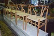 Sale 8390 - Lot 1290 - Set of 6 Blondewood Wishbone Dining Chairs