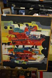 Sale 8453 - Lot 2079 - Artist Unknown - Geometric Abstract 46 x 55cm