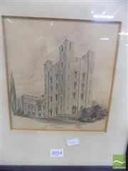 Sale 8513 - Lot 2054 - Signed Pencil Original Dated 1947