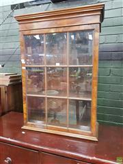Sale 8617 - Lot 1043 - 18th Century Style Figured Walnut Wall Display Cabinet, with astragal door