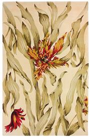 Sale 8651C - Lot 14 - Colorscope Collection; Tropics Carved NZ Wool Fire - Floral/Beige Rug, Origin: China, Size: 160 x 230cm, RRP: $3499