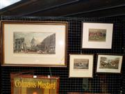 Sale 8668 - Lot 2064 - Group of (4) C19th hand-coloured engravings: Hunting Scenes; London, 1829 (framed/various sizes)
