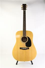 Sale 8783 - Lot 27 - Odessa Acoustic Guitar in Case with 2 Music Books