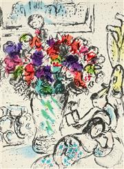 Sale 8794A - Lot 5040 - Marc Chagall (1887 - 1985) - The Anemones 1974 31 x 23cm
