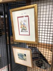 Sale 8789 - Lot 2124 - 2 Works: Greg Hyde - Poppies Humming Debussy, hand coloured lino print, SLR 15/100 & Barbara Whiteman - July Morning, watercolour, SLL