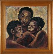Sale 8821A - Lot 5097 - Sylvia Freed - African Sisters, 1956 50 x 50.5cm