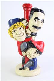 Sale 8840 - Lot 1 - The Marx Brothers Figural Table Lamp Base H: 45cm