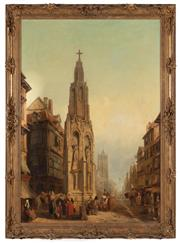 Sale 8871H - Lot 147 - Henry Gritten - French street scene I 103x72cm