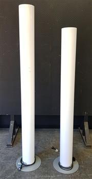 Sale 9056 - Lot 1092 - Flos Floor Lamps with Lucite Shades x 2 (h:197cm)