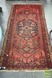 Sale 8347 - Lot 1055 - Probably Hamadan Wool Carpet with Anchor Medallion - some wear (200 x 99 cm)