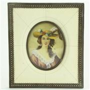 Sale 8393B - Lot 16 - Miniature Portrait of a Lady