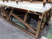 Sale 8589 - Lot 1019 - Modern Marble Top Coffee Table (42 x 100 x 100cm)