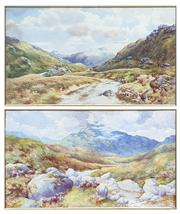 Sale 8759 - Lot 2060 - Two Watercolours, by Herbert A Paulden, both of Lake and Mountain Scenes, one titled Ben Lomond from Glen Croe