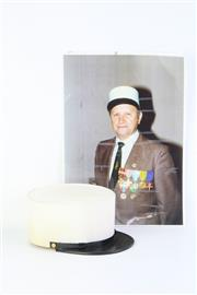 Sale 8757 - Lot 30 - A French Foreign Legion Hat with Photograph