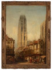 Sale 8871H - Lot 148 - Henry Gritten - French Street Scene II 103x72cm