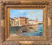 Sale 8961 - Lot 2052 - An Impressionist Style Painting of Venice, acrylic on canvas, 84 x 93cm (frame)