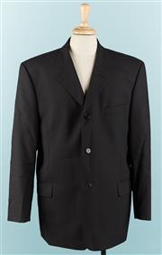 Sale 9080F - Lot 2 - A PIERRE CARDIN SUIT JACKET; in black Size 108 S, three internal pockets & two external 100% Extra fine wool