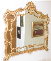 Sale 8369A - Lot 1 - A Rococo style gilt framed mirror, H 115 x W 125cm