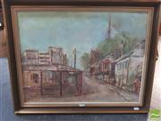 Sale 8407T - Lot 2085 - Marion Purvis (1932 - ) - Sydney Street Scene 44 x 60cm