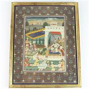 Sale 8399 - Lot 56 - Indian Watercolour Mughal Prince